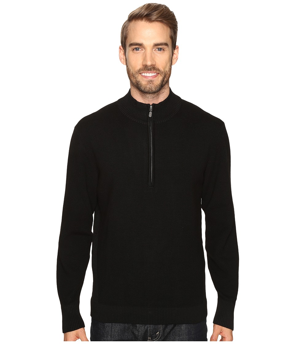 ExOfficio Teplo 1/4 Zip (Black) Men
