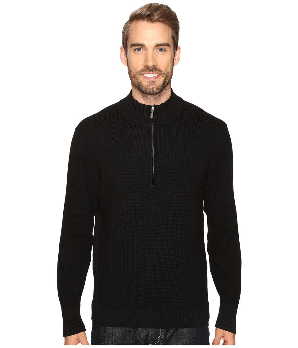 ExOfficio - Teplo 1/4 Zip (Black) Men's Long Sleeve Pullover