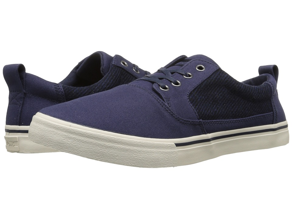 TOMS - Valdez (Navy Cotton Twill/Micro Stripe) Men's Lace up casual Shoes