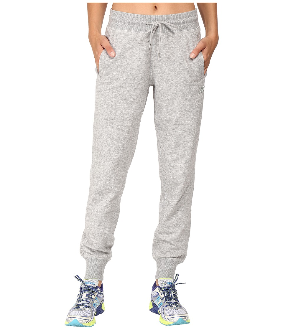 New Balance - Classic Tailored Sweatpants (Athletic Grey) Women's Casual Pants
