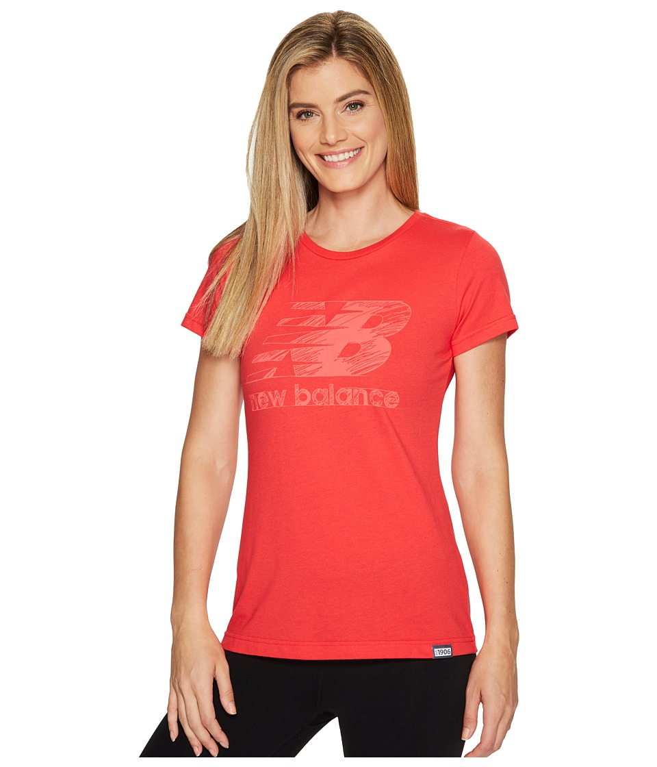 New Balance Sketch Tee (Blossom) Women