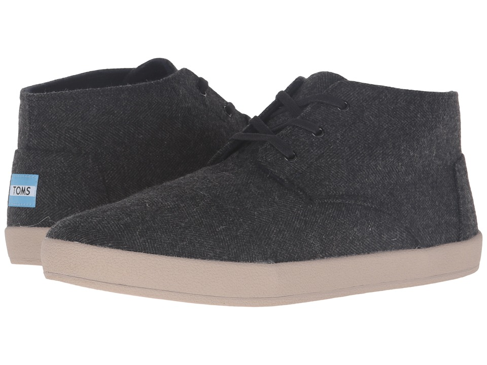 TOMS - Paseo Mid (Grey Herringbone) Men's Lace up casual Shoes