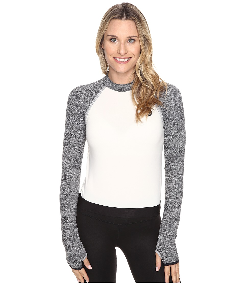 New Balance Sport Style Long Sleeve Cropped Top (Angora) Women