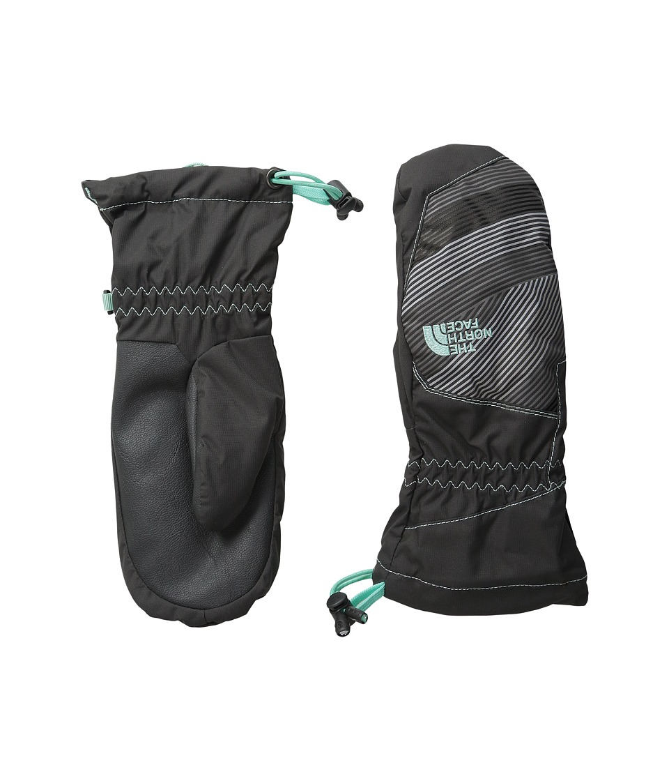 The North Face Kids - Revelstoke Mitt (Big Kids) (Graphite Grey/Ice Green) Extreme Cold Weather Gloves