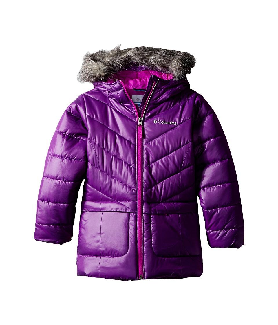 Columbia Kids - Katelyn Crest Mid Jacket (Little Kids/Big Kids) (Iris Glow/Bright Plum) Girl's Coat