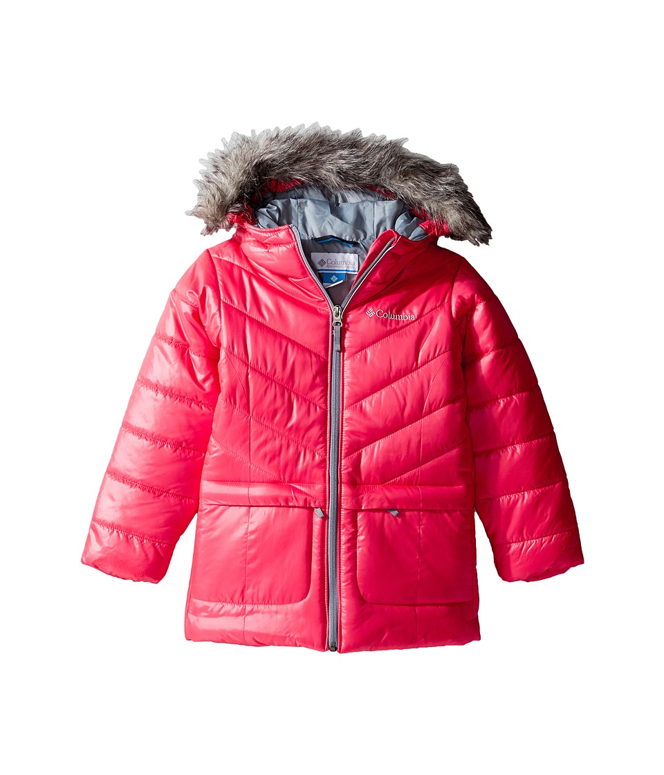 Columbia Kids - Katelyn Crest Mid Jacket (Little Kids/Big Kids) (Punch Pink/Grey Ash) Girl's Coat