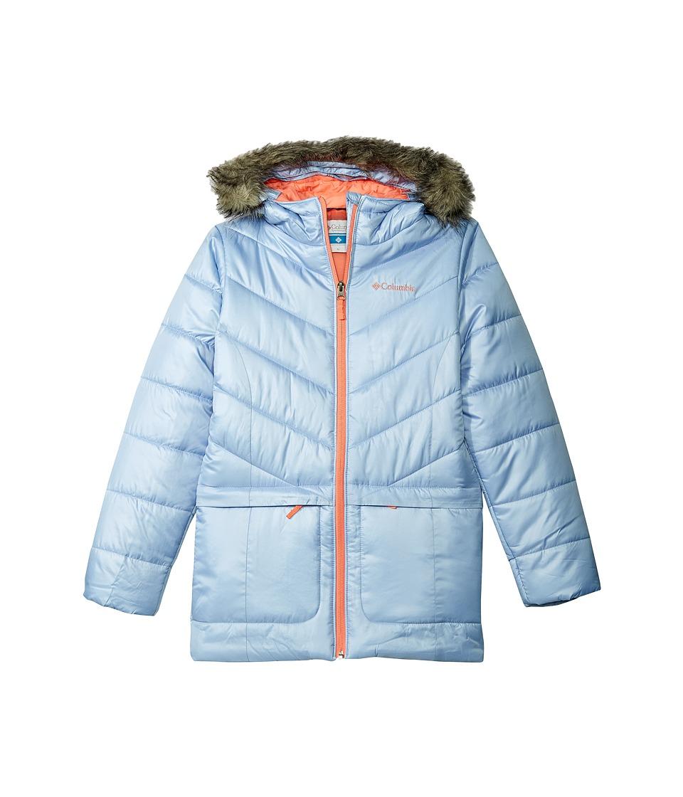 Columbia Kids - Katelyn Crest Mid Jacket (Little Kids/Big Kids) (Empress/Hot Coral) Girl's Coat