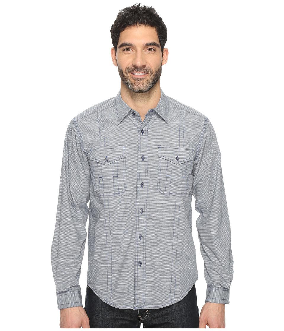 ExOfficio - Ankora Long Sleeve Shirt (Navy) Men's Long Sleeve Button Up