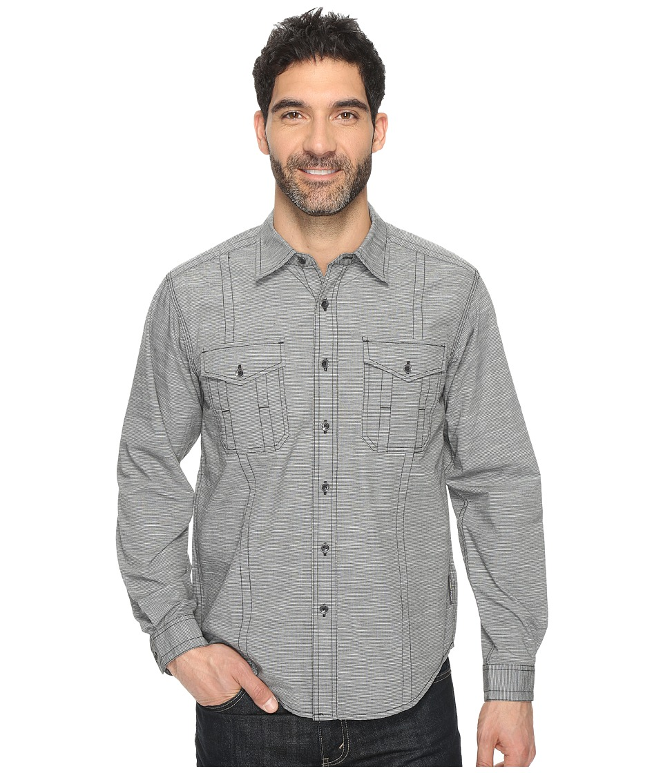 ExOfficio - Ankora Long Sleeve Shirt (Black) Men's Long Sleeve Button Up