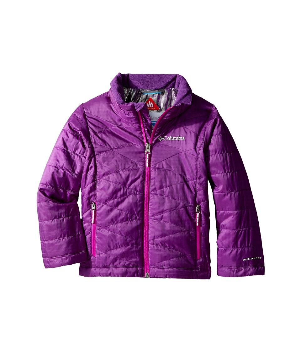 Columbia Kids - Mighty Lite Jacket (Little Kids/Big Kids) (Iris Glow/Bright Plum) Girl's Coat