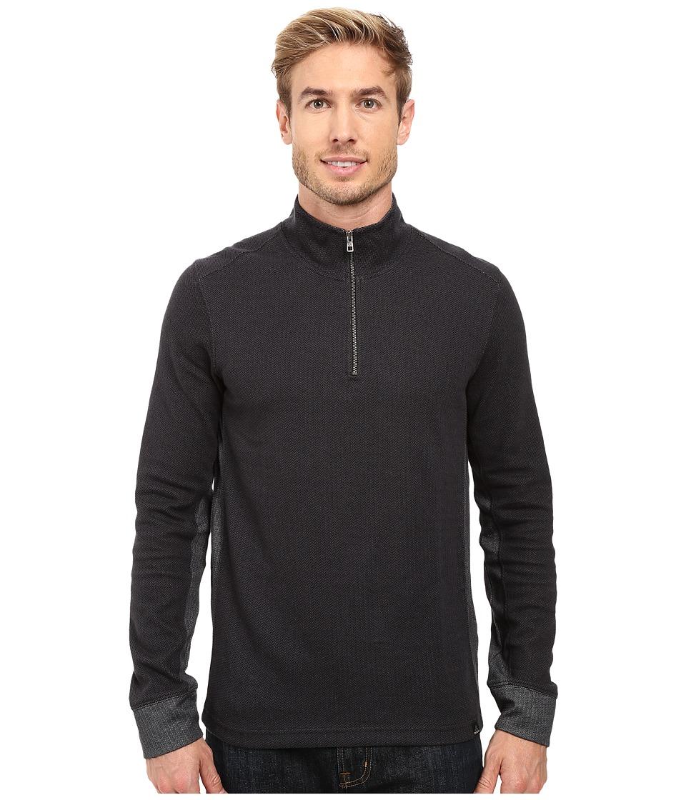 Prana - Irwin 1/4 Zip (Black) Men's Long Sleeve Pullover