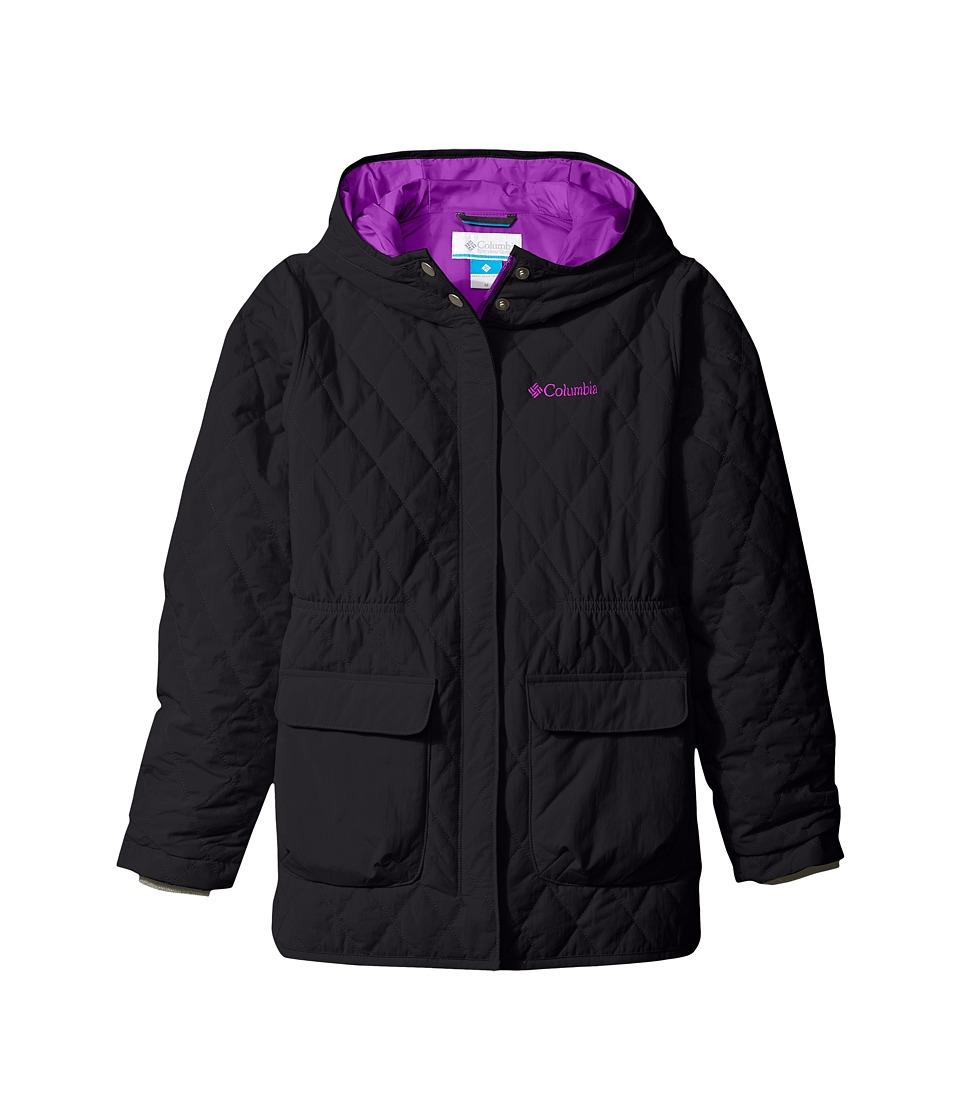 Columbia Kids - Primrose Peak Jacket (Little Kids/Big Kids) (Black/Bright Plum) Girl's Coat