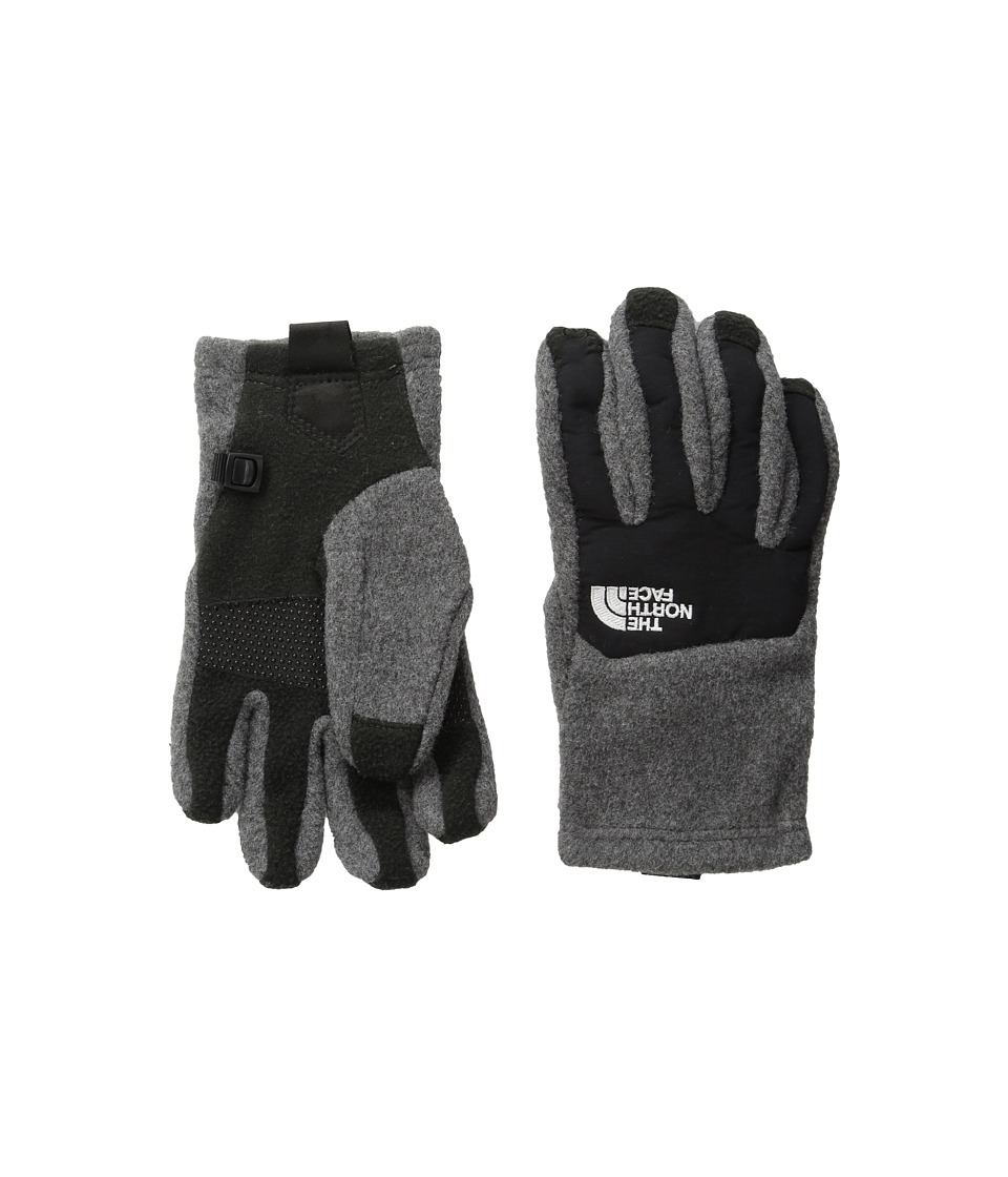 The North Face Kids - Denali Etip Gloves (Big Kids) (Charcoal Grey Heather/TNF Black) Extreme Cold Weather Gloves