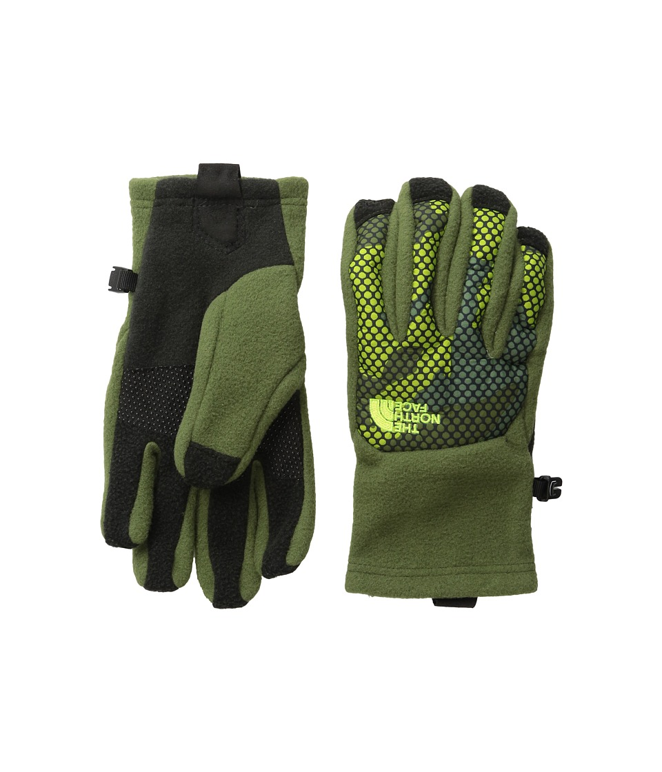 The North Face Kids - Denali Etip Gloves (Big Kids) (Terrarium Green Mesh Camo) Extreme Cold Weather Gloves