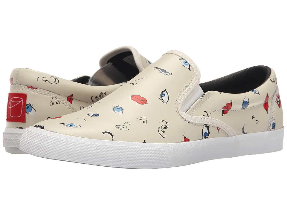 BucketFeet - Senses (White) Women's Slip on Shoes