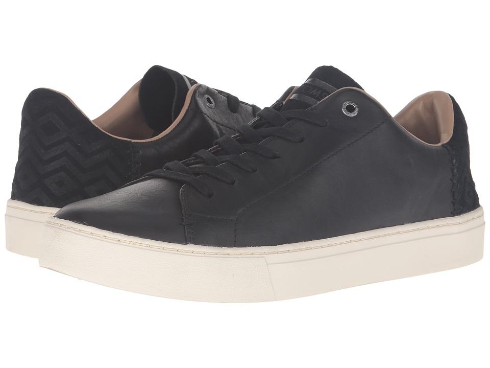 TOMS Lenox (Black Leather) Men