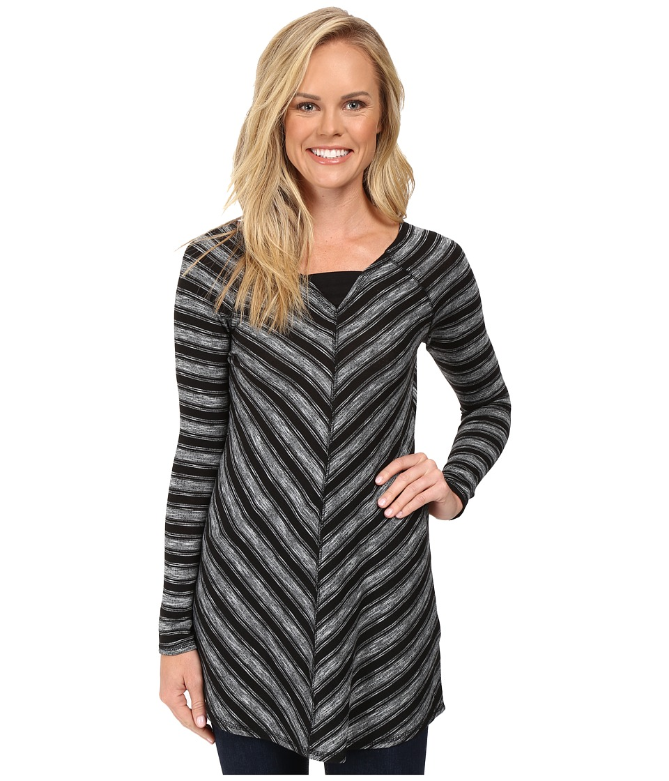 Aventura Clothing - Bexley Tunic (Black/White) Women's Long Sleeve Pullover