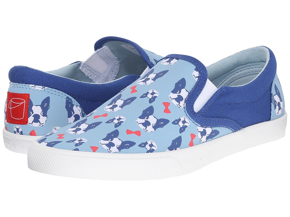 BucketFeet - Perfect Gentleman (Blue/Gold) Women's Slip on Shoes