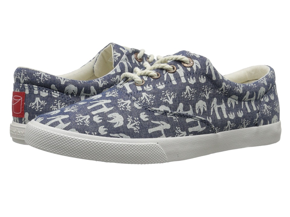 BucketFeet - Elephants (Blue) Women's Slip on Shoes