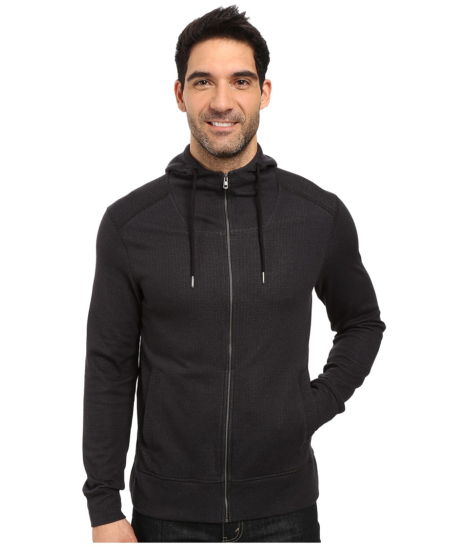 Prana - Hough Full Zip (Black) Men's Sweatshirt