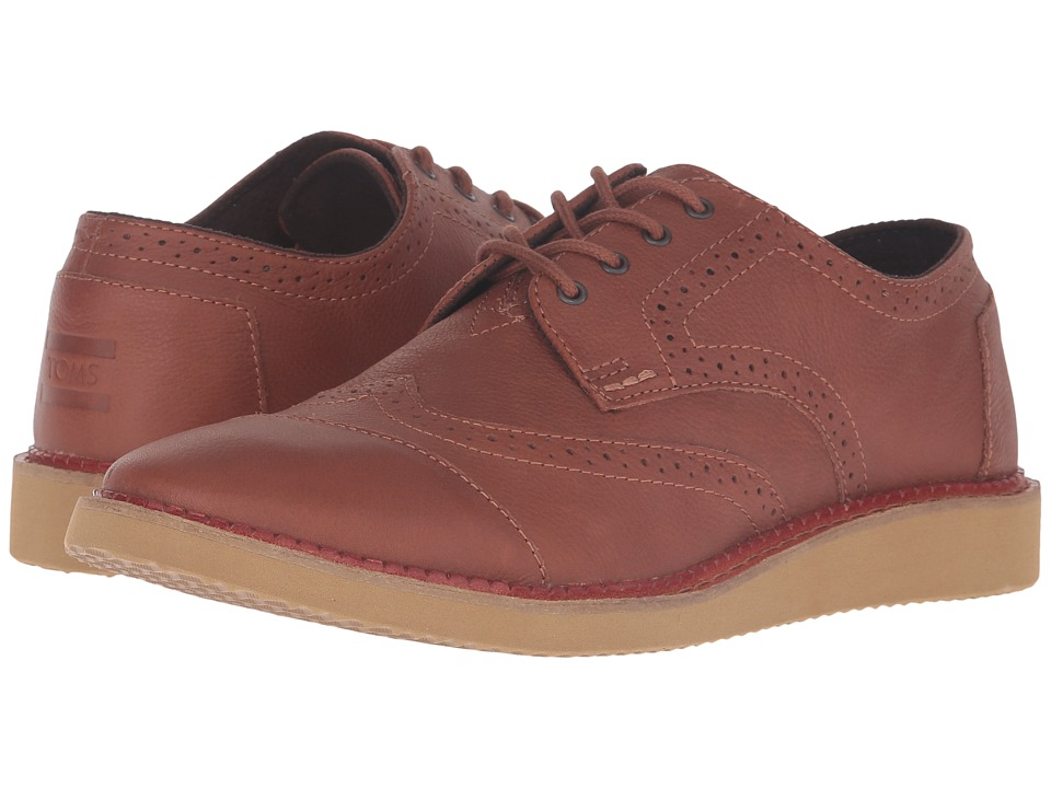 TOMS - Brogue (Brown Full Grain Leather) Men's Lace up casual Shoes