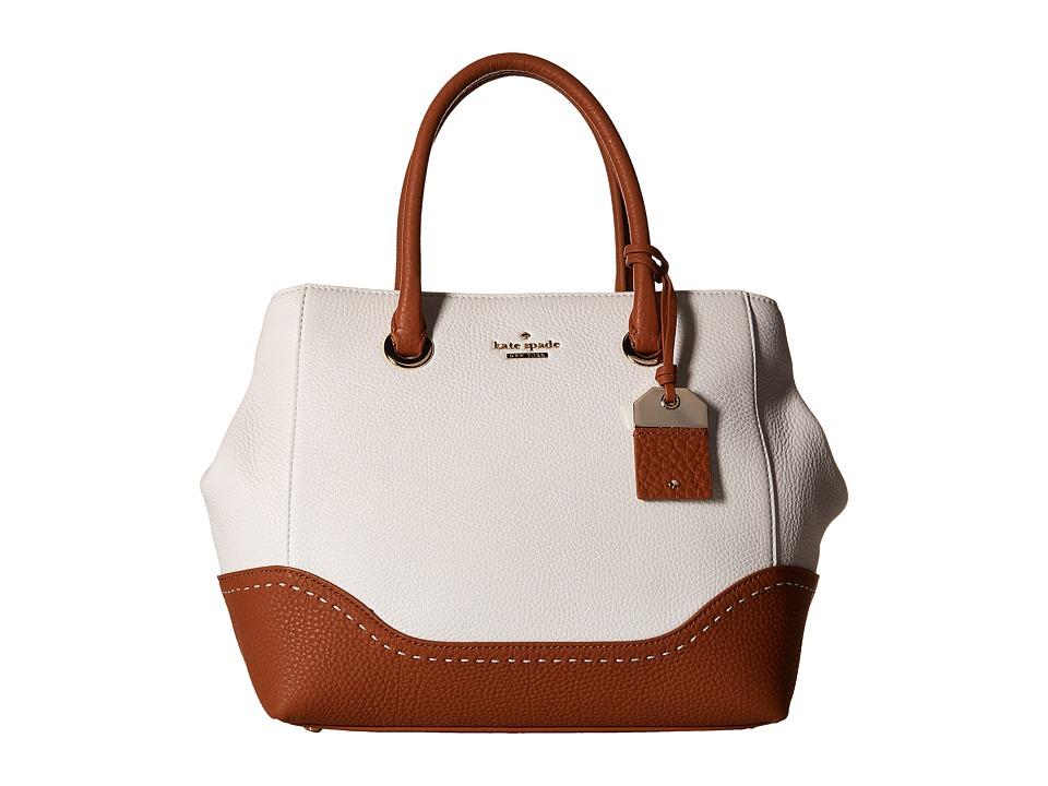 Kate Spade New York - Louella (Bright White/Warm Cognac) Handbags