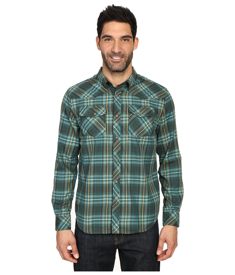Prana - Holdstad Shirt (Cargo Green) Men's Long Sleeve Button Up