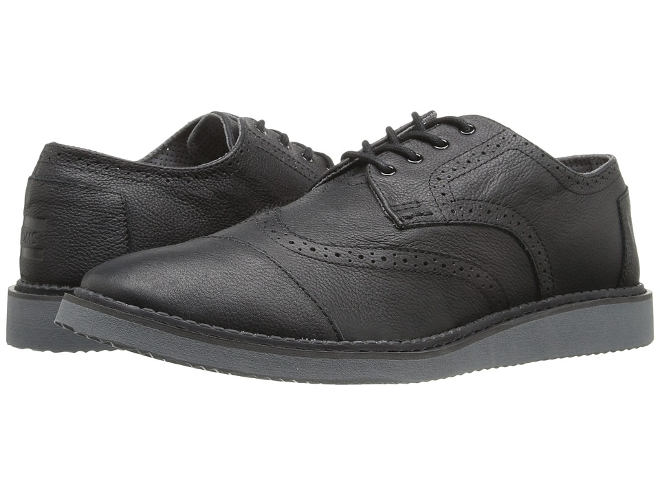 TOMS Brogue (Black Full Grain Leather 2) Men