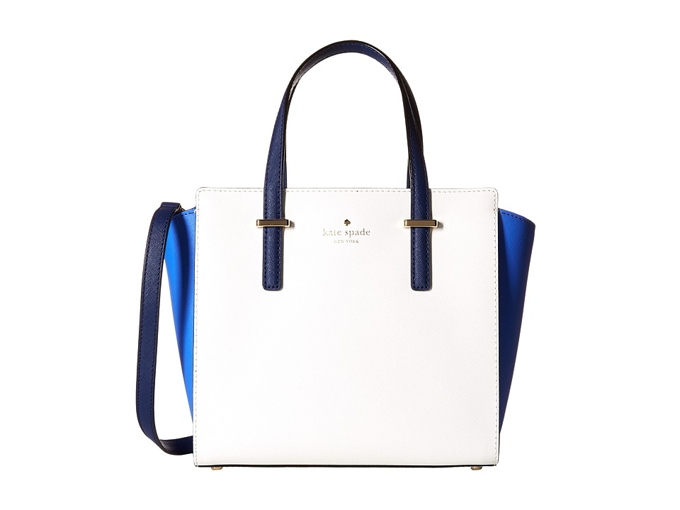 Kate Spade New York - Cedar Street Small Hayden (Adventure Blue/Bright White/Ocean Blue) Handbags