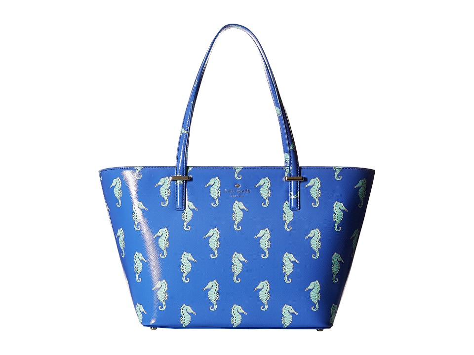 Kate Spade New York - Cedar Street Seahorses Mini Harmony (Adventure Blue) Handbags