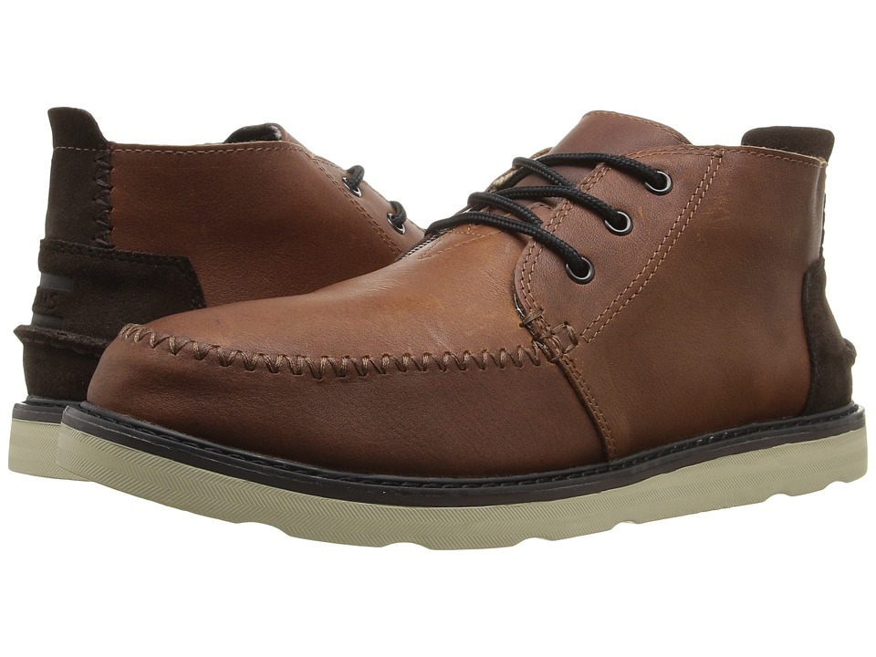 TOMS - Chukka Boot (Waterproof/Brown Leather) Men's Lace-up Boots