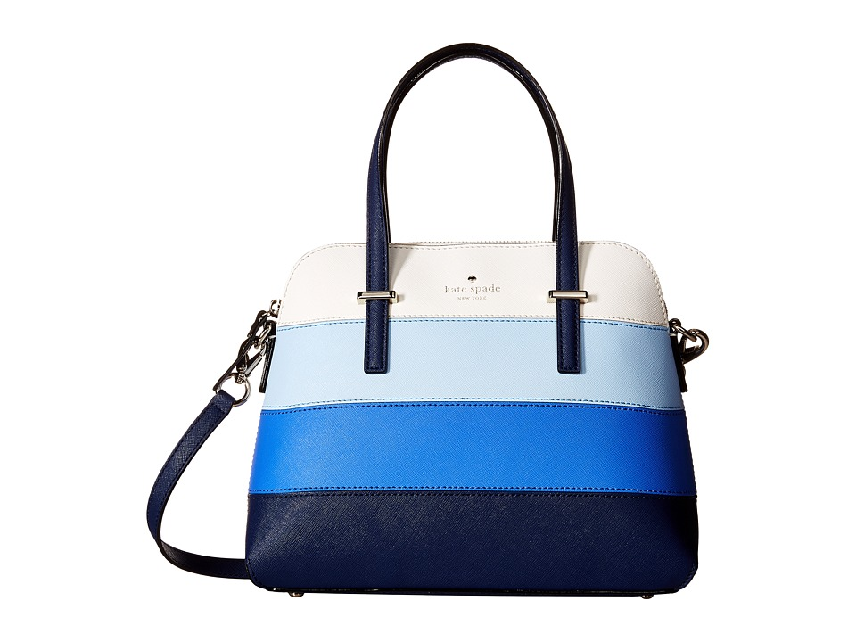 Kate Spade New York - Cedar Street Stripe Maise (Ocean Blue Multi) Handbags