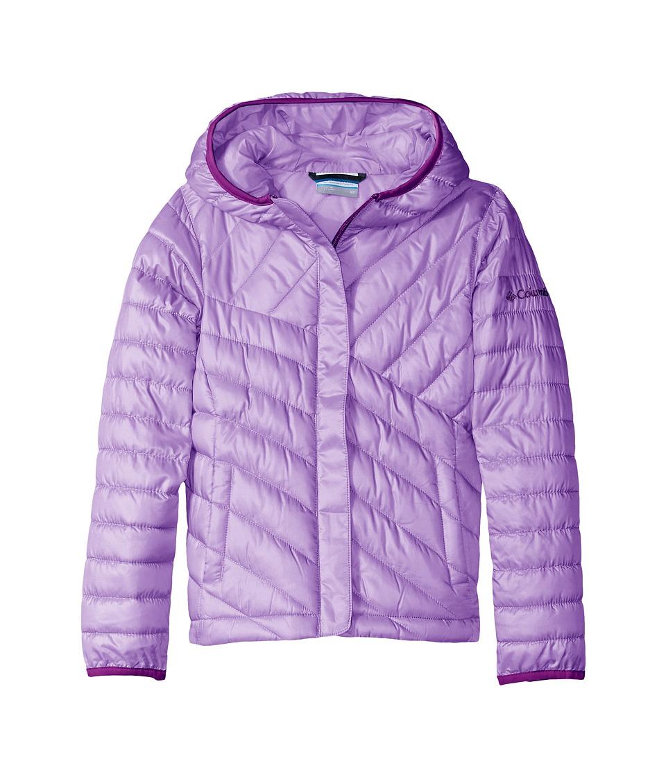 Columbia Kids - Powder Lite Puffer (Little Kids/Big Kids) (Hydrangea/Iris Glow) Girl's Coat