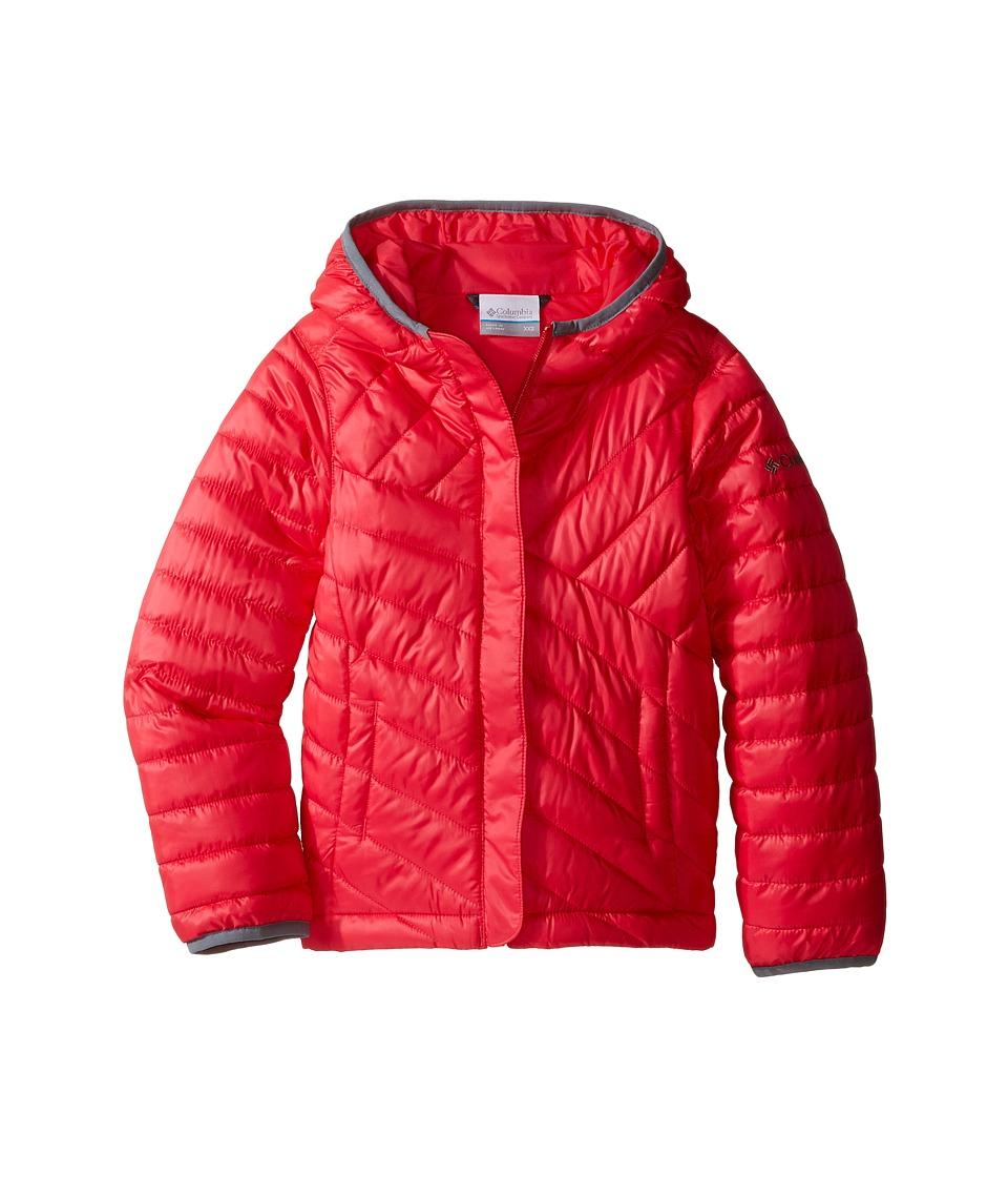 Columbia Kids - Powder Lite Puffer (Little Kids/Big Kids) (Punch Pink/Grey Ash) Girl's Coat