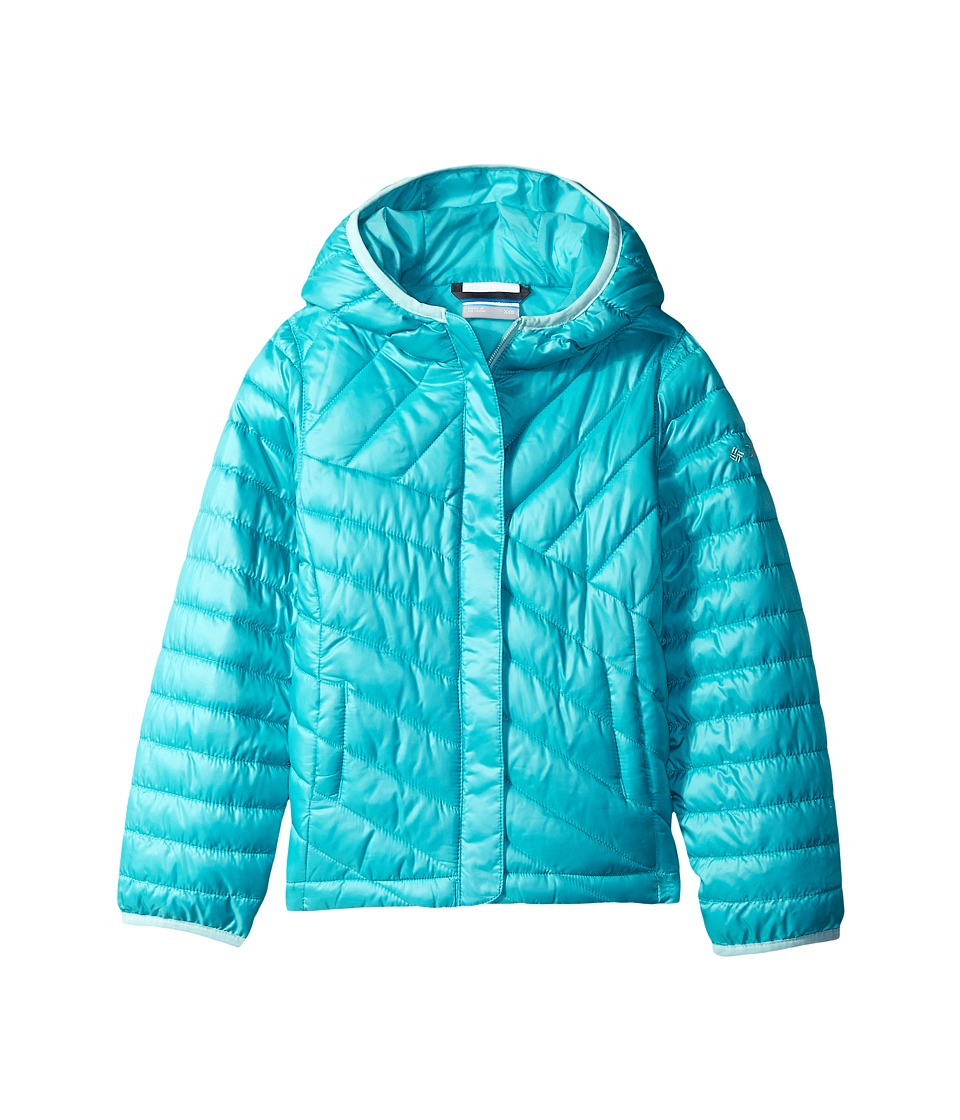 Columbia Kids - Powder Lite Puffer (Little Kids/Big Kids) (Miami/Spray) Girl's Coat