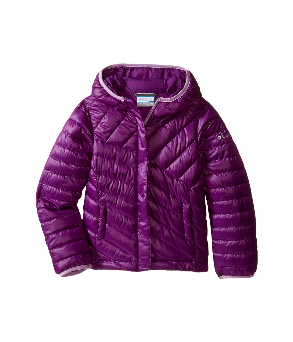 Columbia Kids - Powder Lite Puffer (Little Kids/Big Kids) (Iris Glow/Hydrangea) Girl's Coat