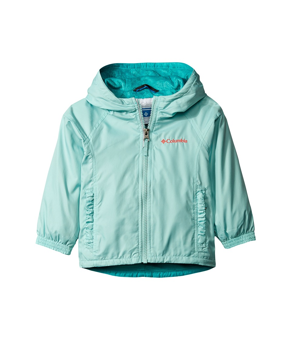 Columbia Kids - Ethan Pond Jacket (Little Kids/Big Kids) (Spray/Miami/Laser Red) Girl's Coat
