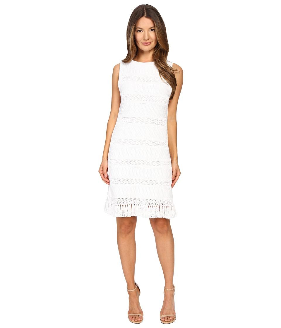 Kate Spade New York Fringe Sweater Dress (Fresh White) Women