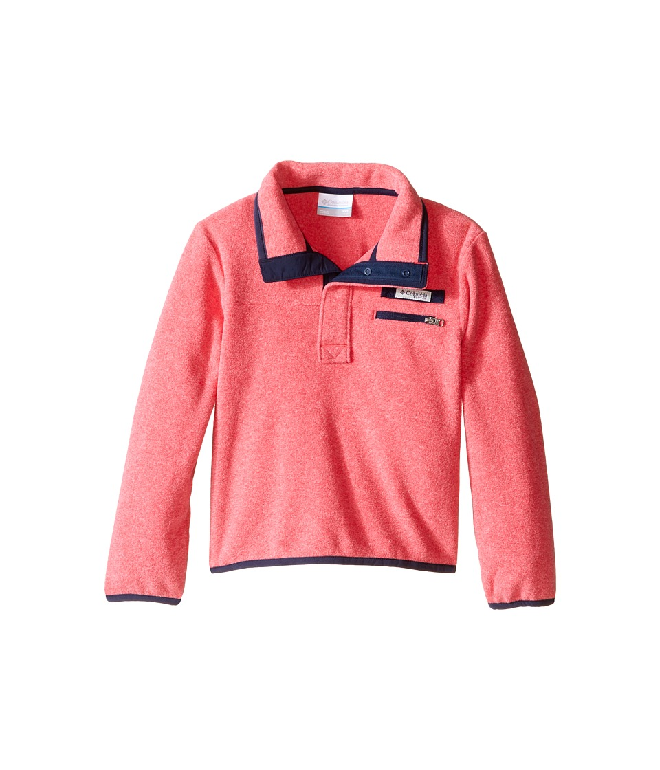 Columbia Kids - Harborside Fleece (Little Kids/Big Kids) (Punch Pink Heather/Collegiate Navy) Girl's Long Sleeve Pullover