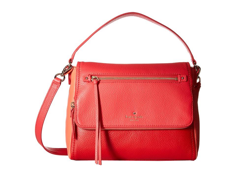 Kate Spade New York - Small Toddy (Crab Red/Coral Sunset) Handbags