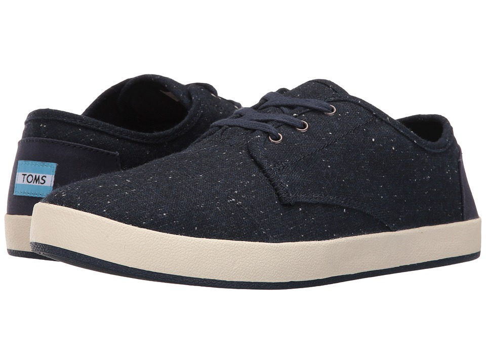 TOMS - Paseo (Navy Fleck) Men's Lace up casual Shoes