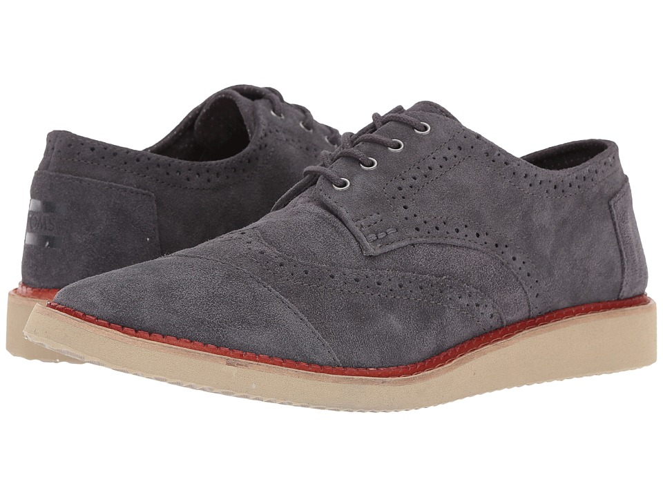 TOMS - Brogue (Forged Iron Grey Suede) Men's Lace up casual Shoes