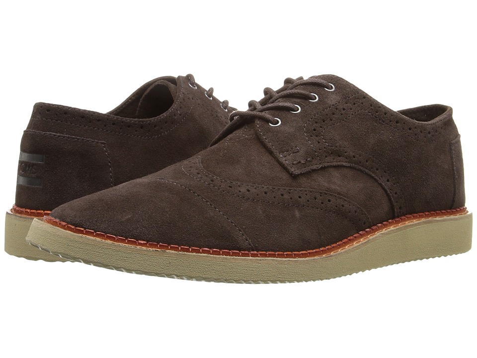 TOMS - Brogue (Chocolate Brown Suede) Men's Lace up casual Shoes