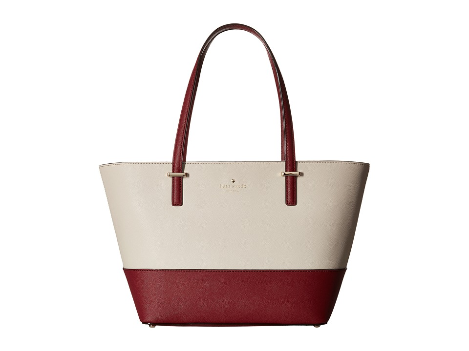 Kate Spade New York - Cedar Street Mini Harmony (Crisp Linen/Merlot) Handbags