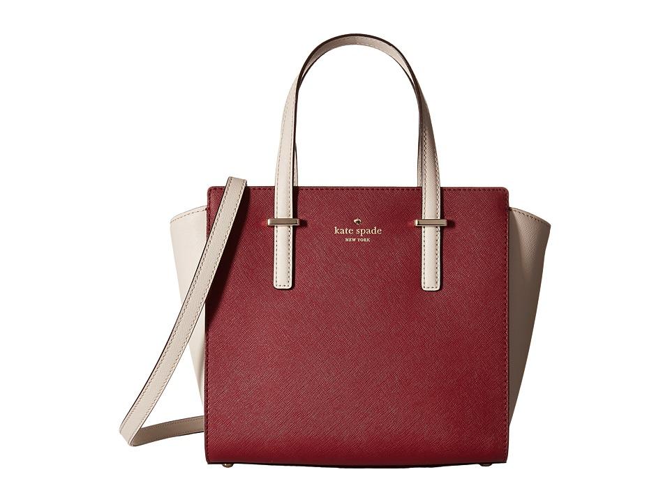 Kate Spade New York - Cedar Street Small Hayden (Crisp Linen/Merlot) Handbags