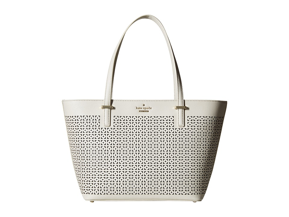 Kate Spade New York - Cedar Street Perforated Mini Harmony (Crisp Linen) Handbags