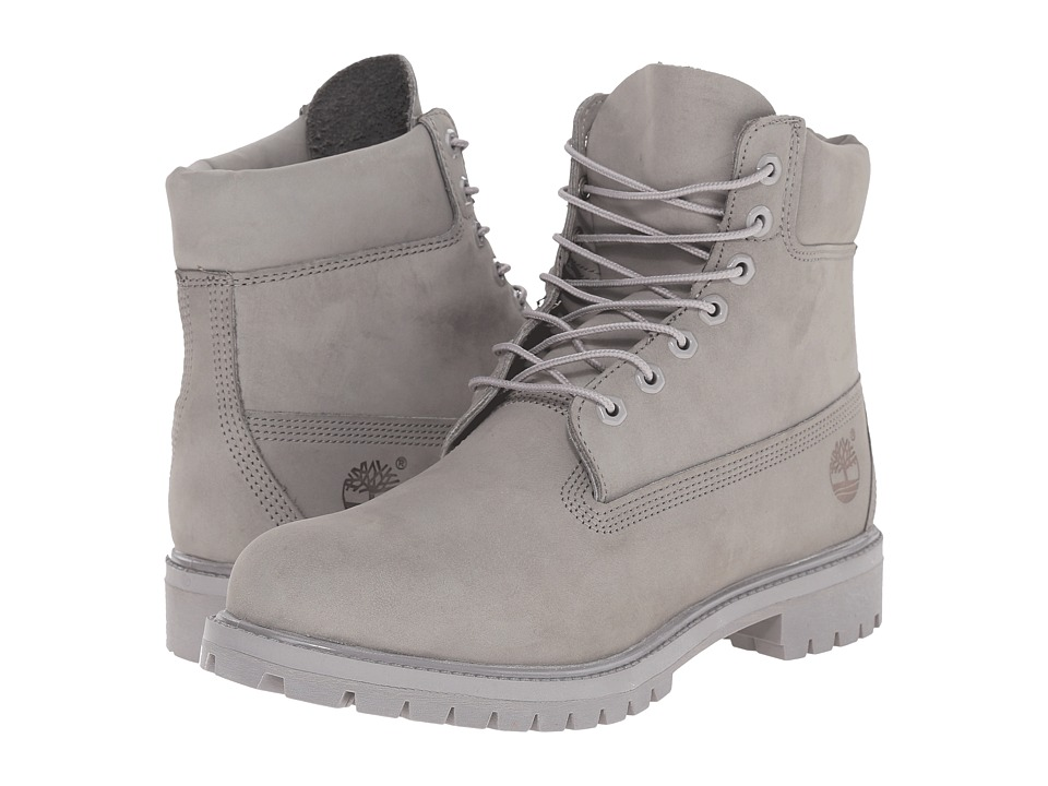 Timberland - 6 Premium Monochrome Boot (Grey) Men's Lace-up Boots