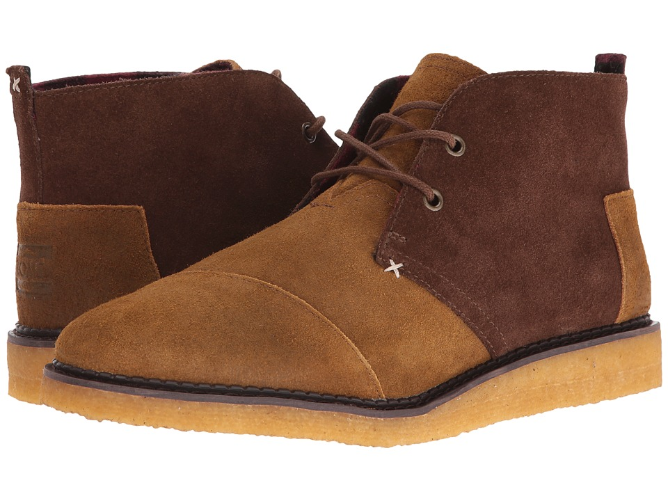 TOMS - Mateo Chukka Boot (Brown/Chestnut Oiled Suede) Men's Lace-up Boots