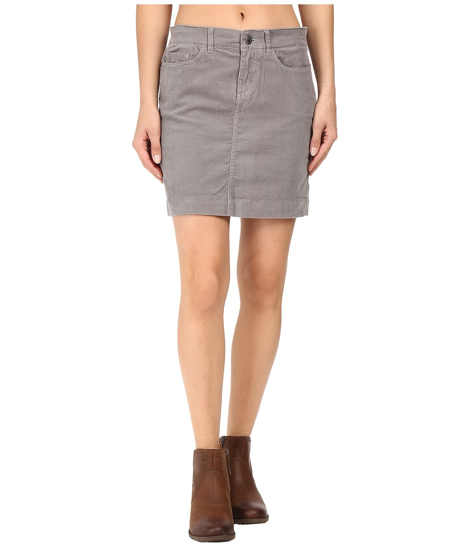 Mountain Khakis - Canyon Cord Skirt Slim Fit (Lunar) Women's Skirt
