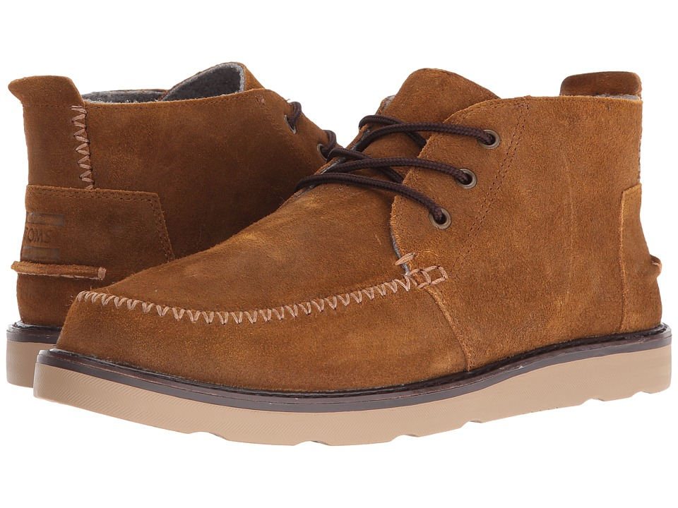 TOMS - Chukka Boot (Chestnut Oiled Suede) Men's Lace-up Boots